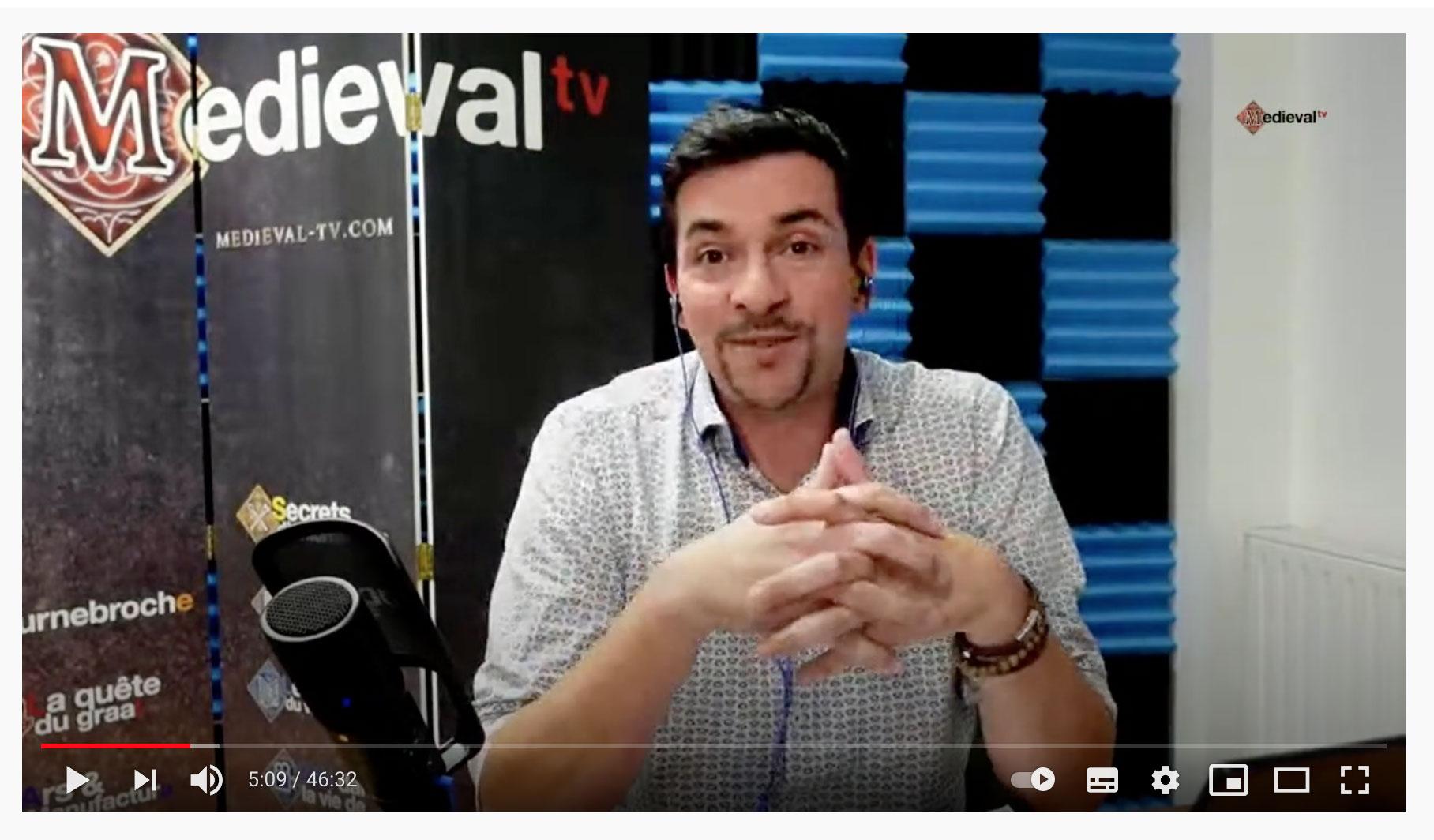 live medieval tv avec David Frecinaux de Commun-Id